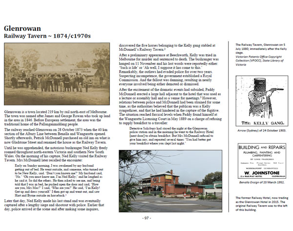 Page 97 of Volume One ~ Victoria: Glenrowan Railway Tavern