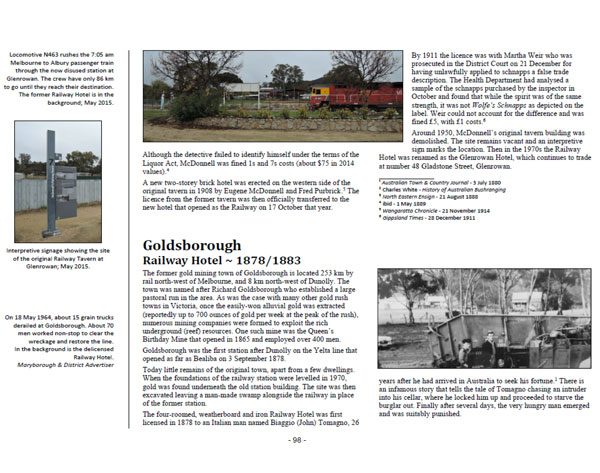 Showcasing page 98 of Volume One ~ Victoria: Goldsborough Railway Hotel