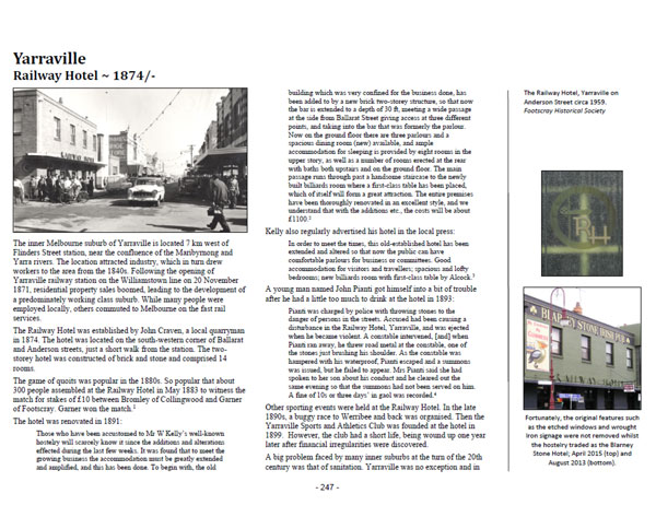 Showcasing page 247 of Volume One ~ Victoria: Yarraville Railway Hotel
