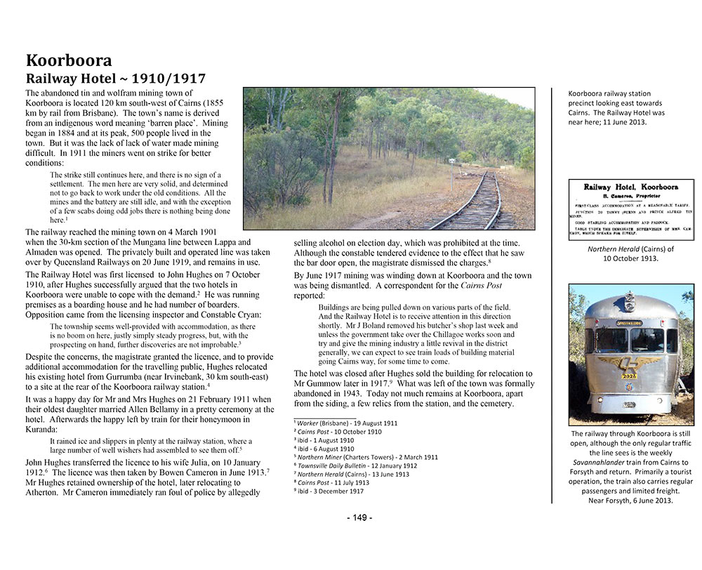 Page 137 of Volume Three ~ Queensland: Koorboora Railway Hotel