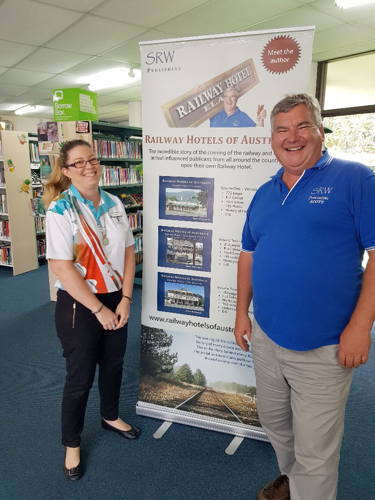 Kasey of Emu Park Library with Scott Whitaker