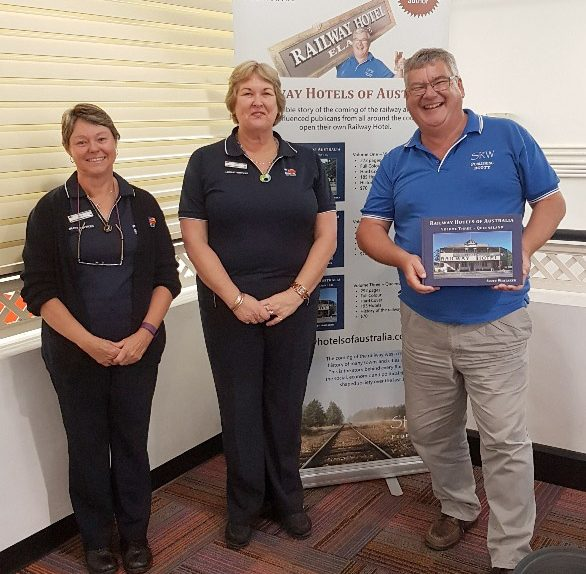 Mt Isa library staff, Tracey and Amanda with author, Scott Whitaker
