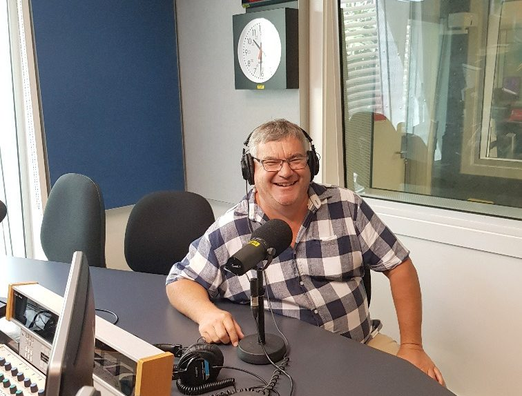 Scott on Air at ABC Townsivlle Studio